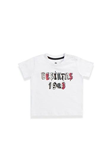 Beşiktaş Beşiktaş Lisanslı Bebek T-Shirt Siyah Beyaz
